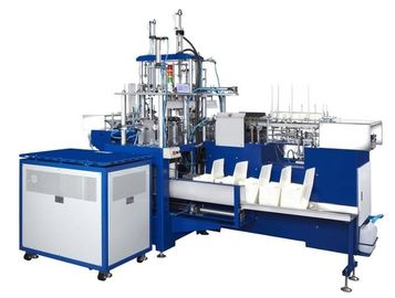 SLB-400 10kw Single / Double Sides Coated Paper Lunch Box Machine With Hot Air Sealing